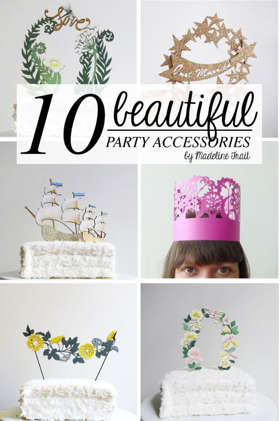 10 Beautiful Party Accessories made of paper!!