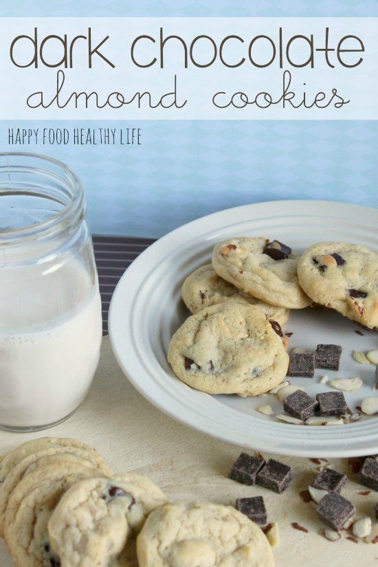 Perfect Dark Chocolate Almond Cookies. These cookies are absolutely perfect in all ways possible... and they stay soft for days!! // Happy Food Healthy Life
