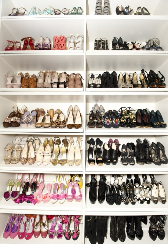 Wanted: so much shoes i can sort them by color! :D