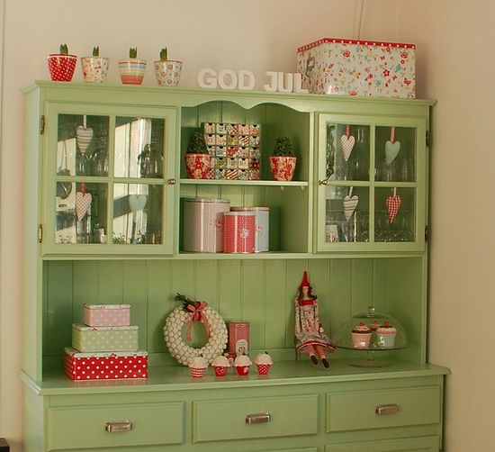 Green cabinet.