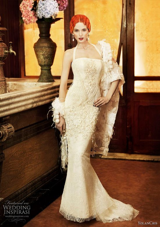 20s inspired wedding dress.