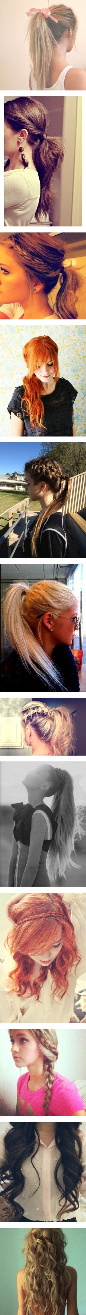 cute hair ideas! This is why in growing my hair out!
