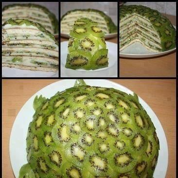 Kiwi Turtle Fruit Cake