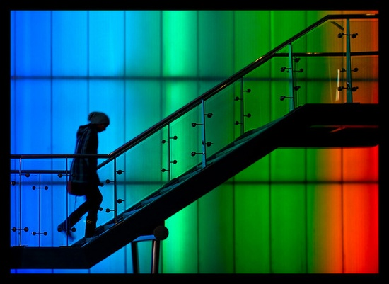 Rainbow Stairs by Julia-D, via Flickr