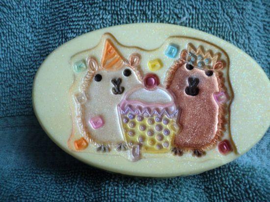 Soap  Hamster Party Soap  Raspberry Lemonade by heffernanscrafts, $4.00-  Best decorative soaps ever