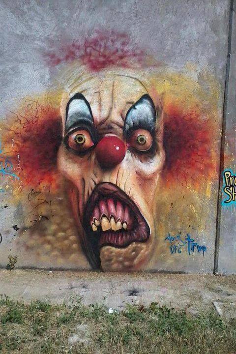 Scary clown #arteurbana #urbanart #streetart #wall #mural #graffiti