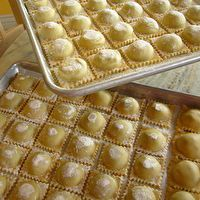 Fresh Handmade Ravioli with Spinach - Pancetta Filling by Maggie Mefford Watte
