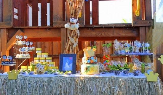 Lion or King of The Jungle Baby Shower