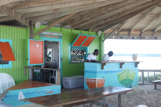 Colorful Caribbean Beach Bars