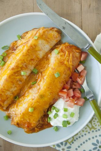 creamy chicken  enchillada