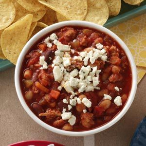 Taste of Home Feb/Mar 2012: Buffalo-Style Chicken Chili Dip