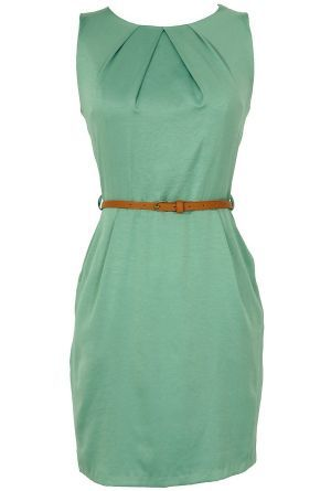 Classic Belted Sheath Dress in #summer outfits