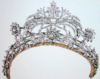 diamond floral tiara