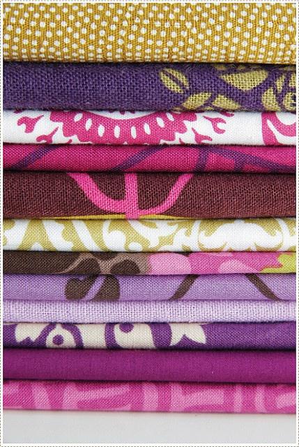 Pretty fabrics.