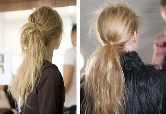 Messy ponytail. #hair #style #blond #fashion #long #beautiful #woman #model