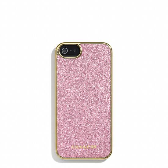 pink glitter iPhone 5 case