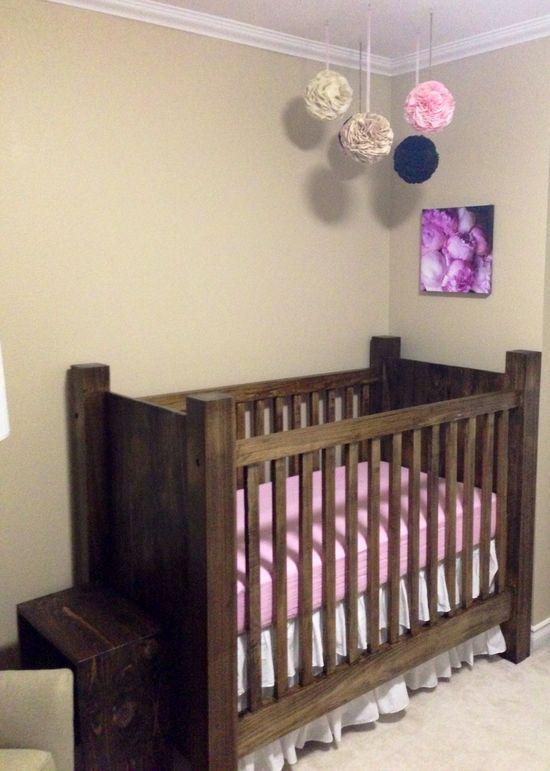 Baby girls custom crib