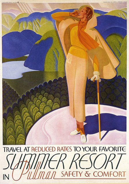 Travel by Pullman ~ 1935.