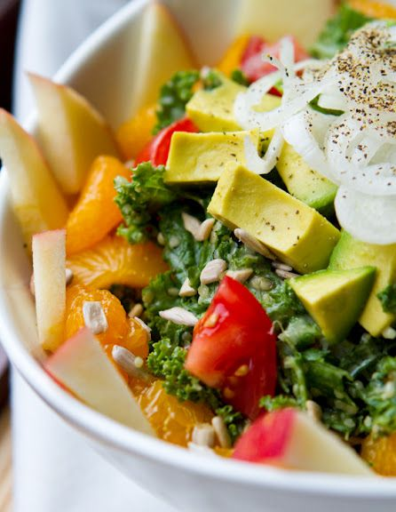 brighten up your afternoon with this colorful-delicious Fully Loaded Kale Salad with my vegan sweet tahini dressing!