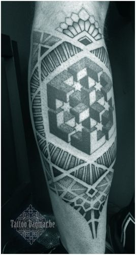pattern, dotwork tattoo, Tattoo Dagmar