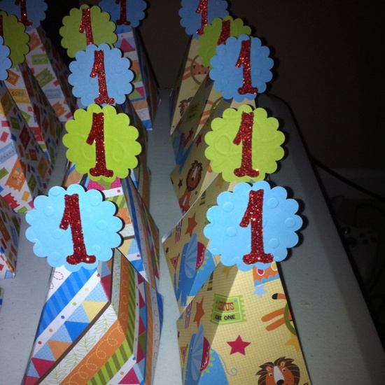 Party favor using the stampin' up petal cone die