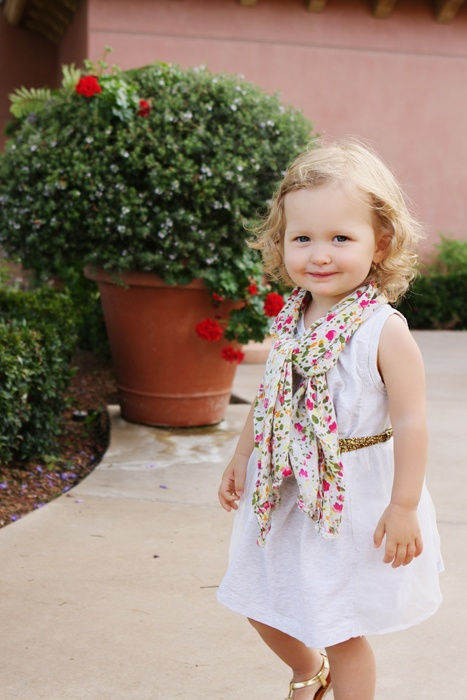 LOVE the outfit .. Can't wait to get my baby girl a belt to wear like this ..