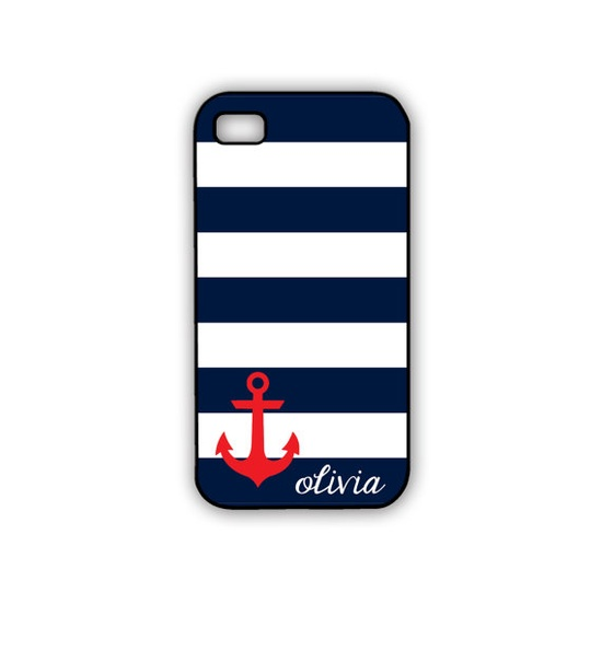 Nautical iPhone Case Anchor iPhone Case in Red by GandGAccessories, $18.00