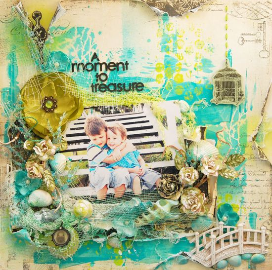 Absolutely GORGEOUS layout by Stacey Young using Prima!!