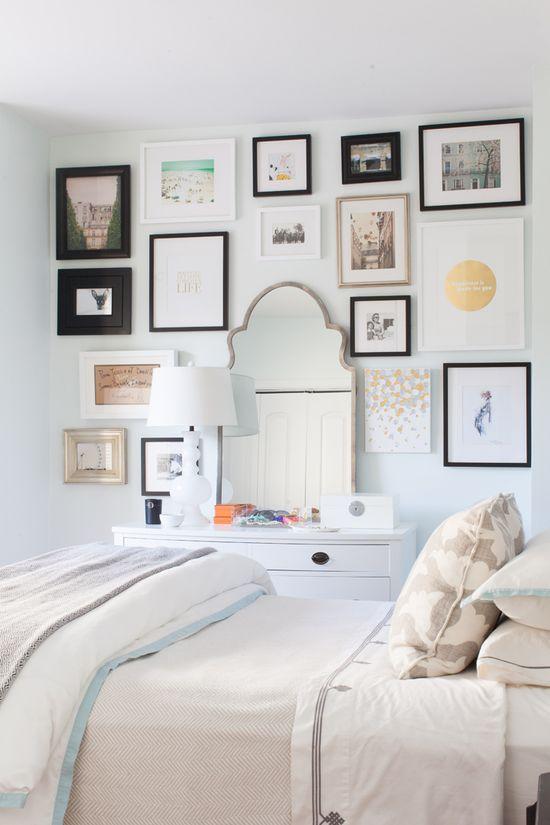 bedroom, love the wall art