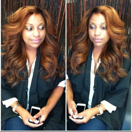 Sew in weave. Like the style and color