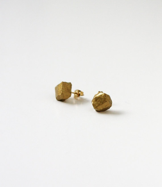 new! gold geo earrings #ammjewelry #gold #earrings #etsy