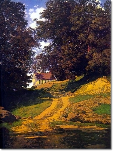 The Country Schoolhouse by Maxfield Parrish