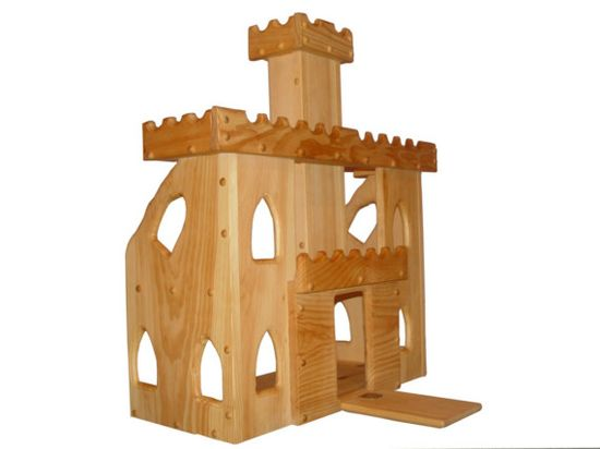 Wooden toy castle waldorf kids toys child's play by Willowtoys, $225.00