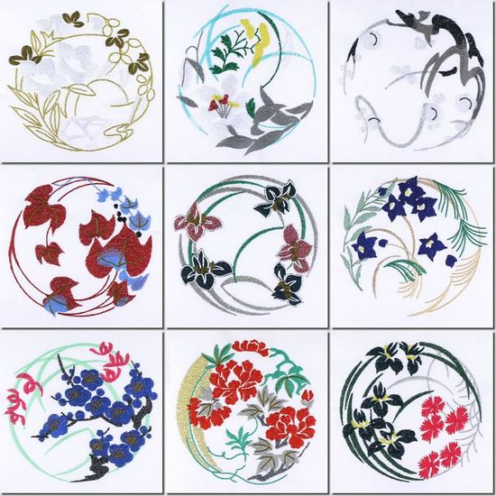 Japanese Design Patterns | ... -Creations Machine Embroidery Japanese Quilt Circles and Free Design