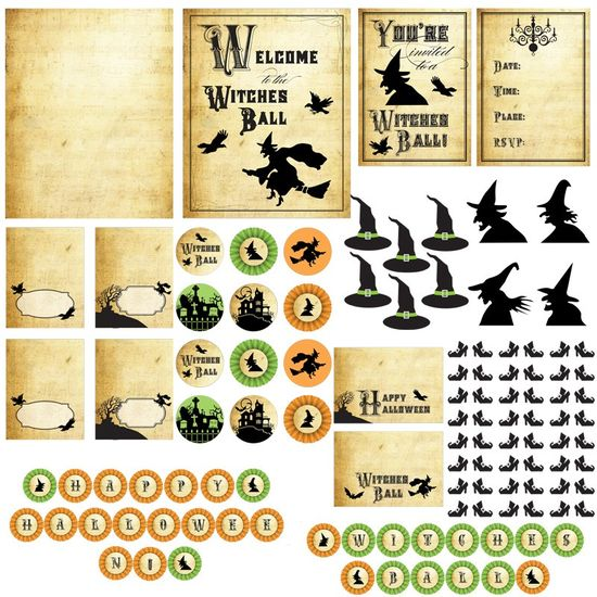 Halloween Witches Ball Printables