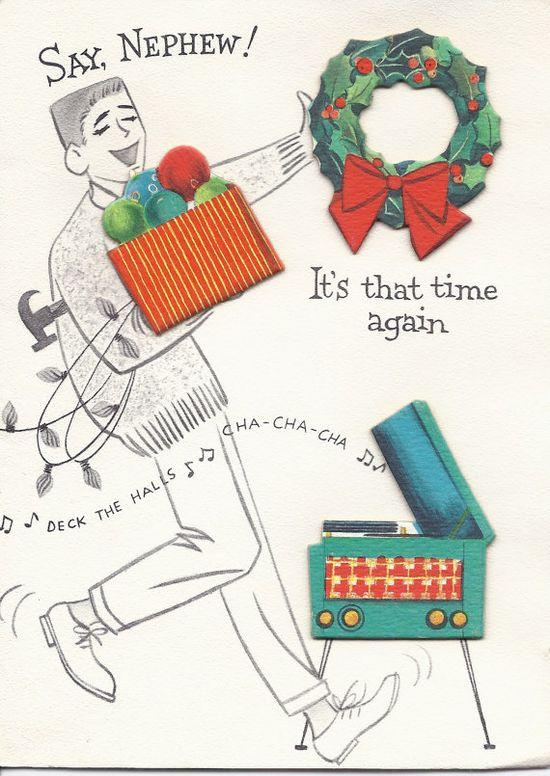 Vintage Christmas Greeting Card  by Hallmark