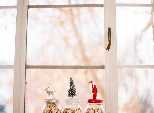 festive topped jars