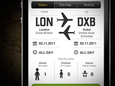 Mobile website flight search rebound