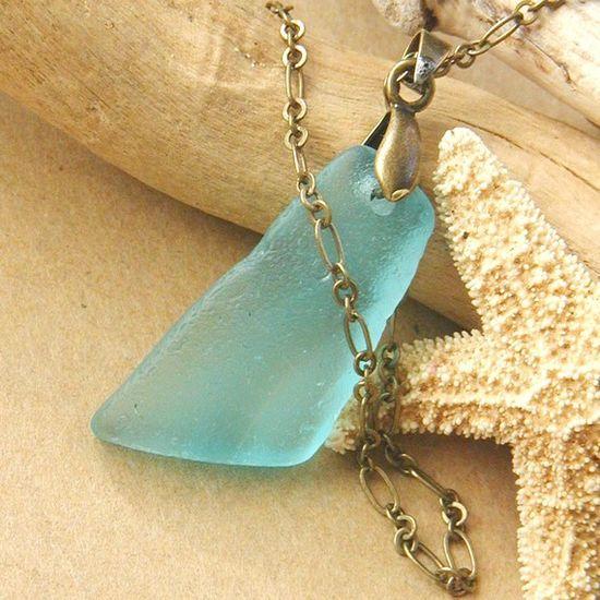 beach glass necklace . . .