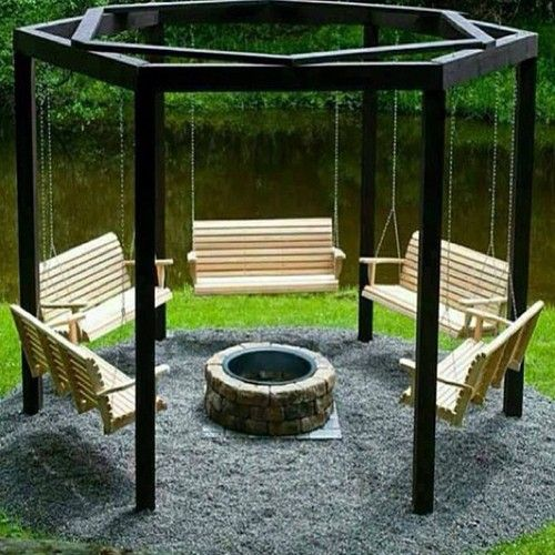 swings around a fire pit-if we ever get a cabin or acreage