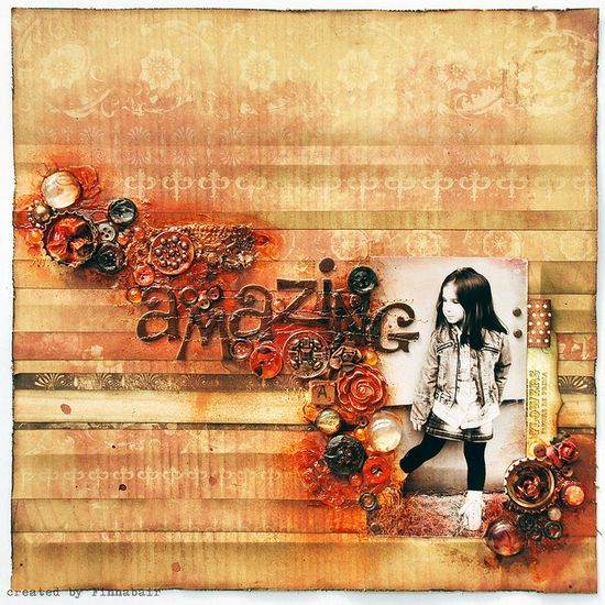 Amazing scrapbook layout