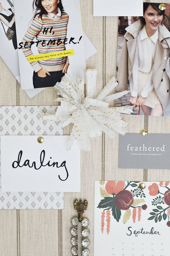 The easiest DIY inspiration board.