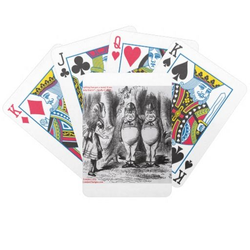 Lewis Carroll Graphic & Famous Quote Bicycle Card Deck