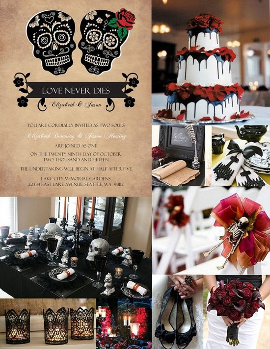 "Halloween Wedding Ideas from PurpleTrail""....."""
