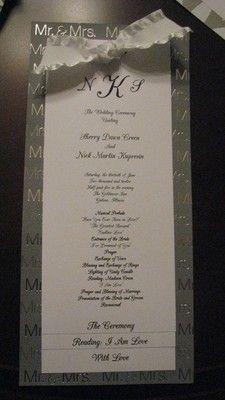 Do It Yourself Wedding Programs