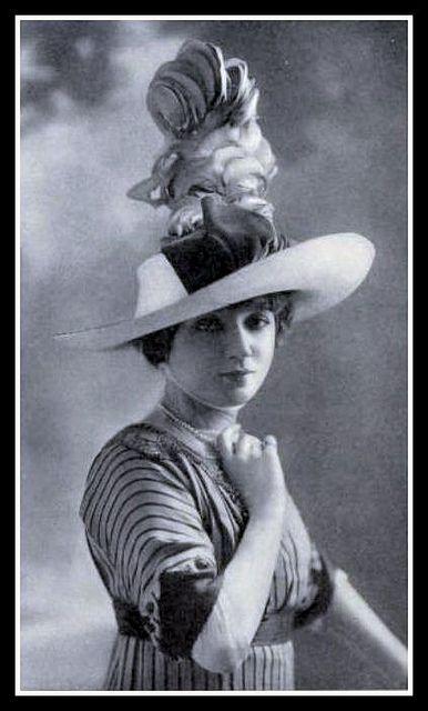 1912 Edwardian  Fashion: Hat - 4 by CharmaineZoe, via Flickr
