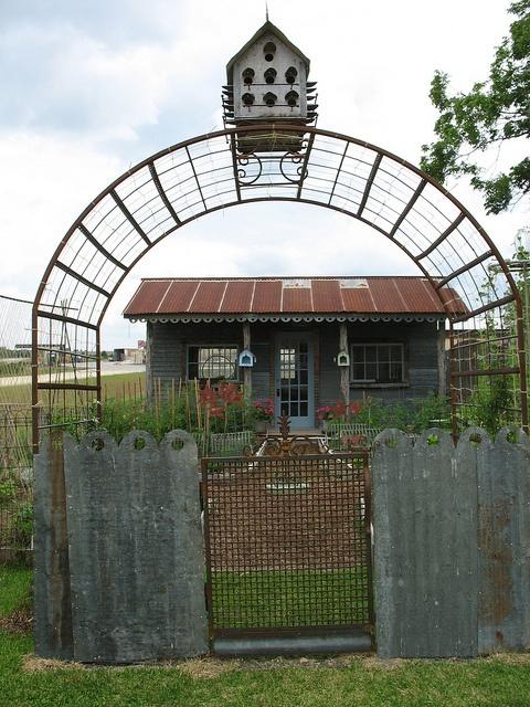 Garden Gate Arbor Birdhouse