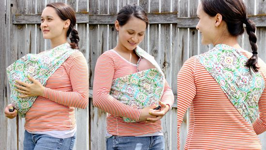 DIY Baby Sling. This post has the condensed quick version but contains a link to