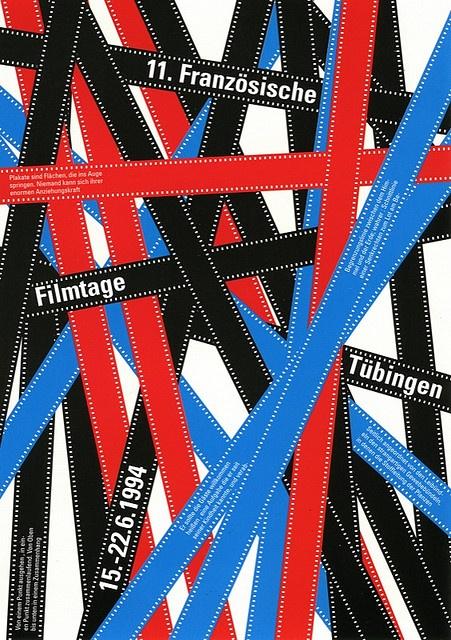 Französische Filmtage TübingenPlakat - Poster designed by Julia Hasting 1994