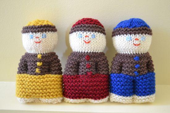 Three comfort dolls